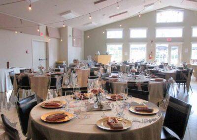 Dinner Setting Creekside Hall